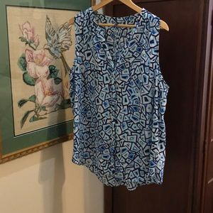 NYDJ full covered button down